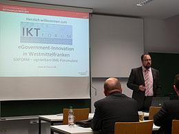Begrüßung und Einführung durch Prof. Dr.-Ing. Sascha Müller-Feuerstein, Leiter des IKT-Forum