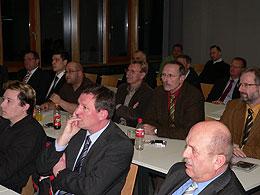 Das Publikum der Veranstaltung: Vertreter der Sparkassen, verschiedener Gemeinden und der Wirtschaft waren anwesend