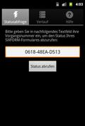 Screenshot 2 der SiXFORM-App unter Android