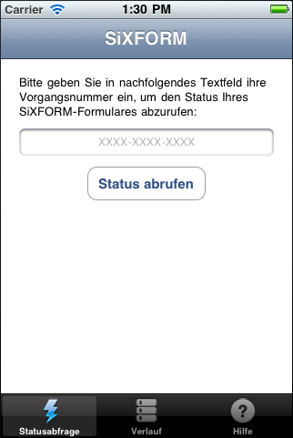 Screenshot 2 der SiXFORM-App unter iPhone (iOS)
