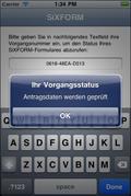 Screenshot 1 der SiXFORM-App unter iPhone (iOS)