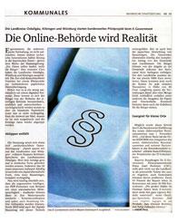 Vorschaufoto zu dem Artikel: Die Online-Behörde wird Realität