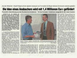 Presseartikel in der Fränkischen Landeszeitung vom 23.06.2010