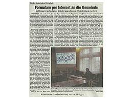 Presseartikel in der Fränkischen Landeszeitung vom 28.01.11