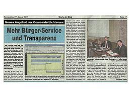 Presseartikel in der Woche im Blick vom 27.01.11